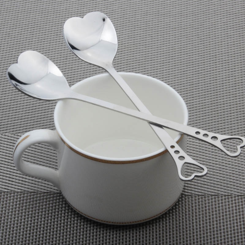 Stainless Steel Heart-Shaped Coffee Spoon